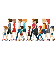 People without faces walking vector