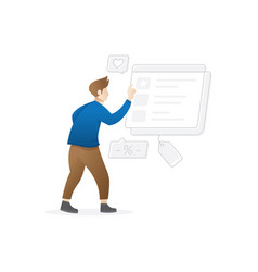person buy on online commerce vector image
