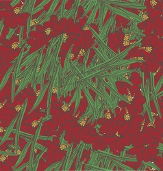 Red floral seamless pattern vector image