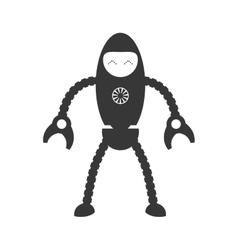Robot cartoon icon Machine design graphic vector