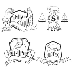 Set of Finance forex Labels Logo emblems and vector
