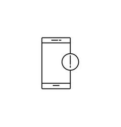 smartphone information icon vector image