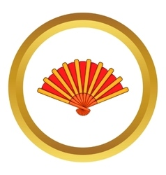 Spanish fan icon vector image