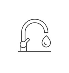 tap or faucet line outline icon vector image