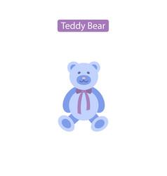teddy bear flat icon vector image