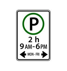 Usa traffic road signsyou may park vector