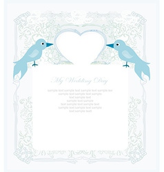 valentines day greeting card with 2 sweet love vector image