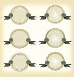 vintage badges banners and ribbons vector image