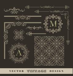 vintage frame border vector image vector image