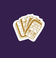 vintage tarot deck hand drawn vector image