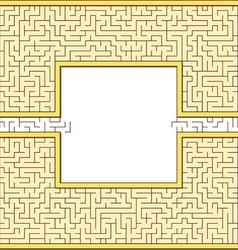 Antic maze frame vector