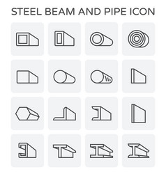 beam pipe icon vector image