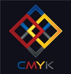 C M Y K vector image