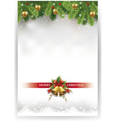 merry christmas banner with decorations vector image vector image