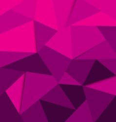 polygon background purple vector image vector image