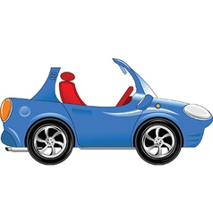 Small blue car vector image vector image