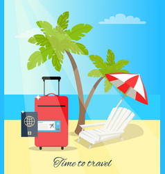 Time to travel seaside poster vector