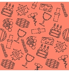 Wine set pattern vector image vector image