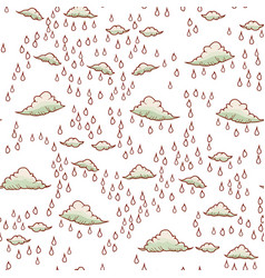 abstract background with rain and cloud vector image