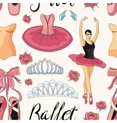 Ballet colorful pattern vector image