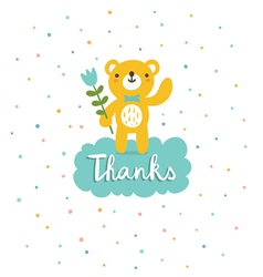 Bear says thanks vector image vector image