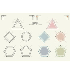 Geometric Labels and Badges Linear Style vector image