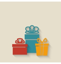 gift boxes background vector image