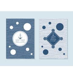 Nautical post cards vector image