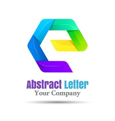 E Letter Logo Icon Element design Template for vector image vector image