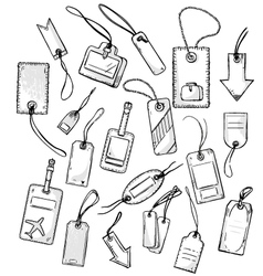 set of various tags vector image