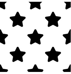 stars black seamless pattern on white background vector image vector image