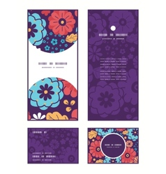 colorful bouquet flowers vertical frame vector image vector image