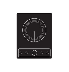 induction cooker vector image
