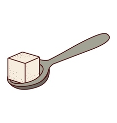 Isolated sugar cube design vector image vector image