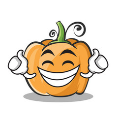 proud face pumpkin character cartoon style vector image