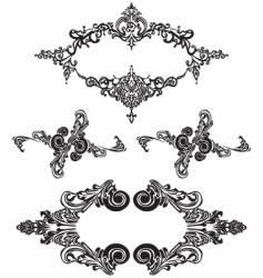 victorian ornaments vector image vector image