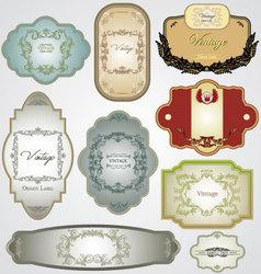 vintage labels - set vector image vector image