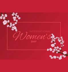 8 march with flowers postcard for women vector image