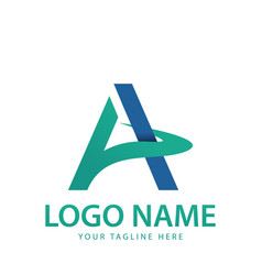 a lettering logo vector image