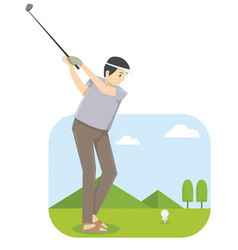 a man playing golf in golf competition vector image