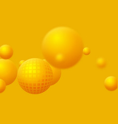 abstract floating spheres background vector image