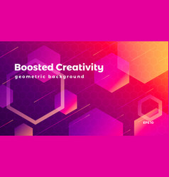 Abstract geometric background colorful futuristic vector