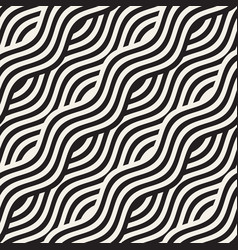 Abstract geometric pattern with wavy lines vector