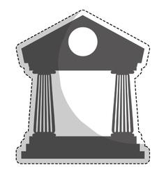 bank icon image vector image