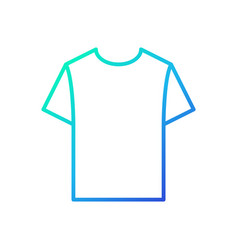 Blue tshirt linear icon t-shirt symbol vector