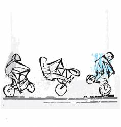 BMX freestyle vector image