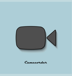 camcorder black and gray color on a blue vector image