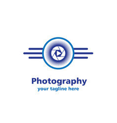 Camera sun photography business logo vector