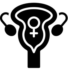 Cervix icon international womens day related vector