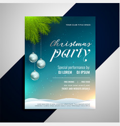 christmas event party decorative flyer template vector image